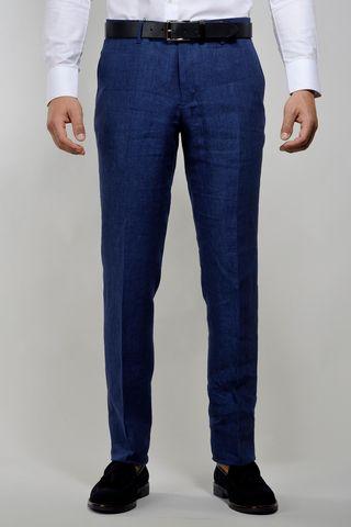 pantalone bluette lino Angelico