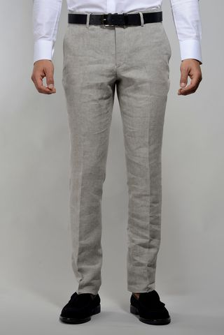 Pantalone naturale lino Angelico
