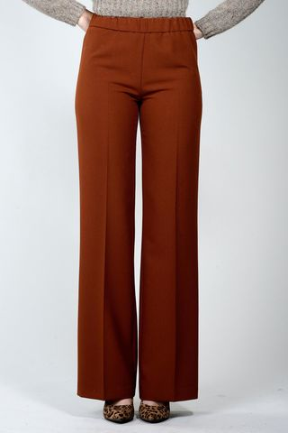 wide brick crepe trousers Angelico
