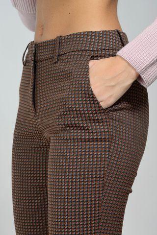 pantalone marrone fantasia risvolto Angelico