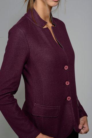 plum stretch sweatshirt jacket Angelico