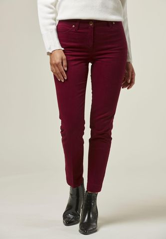 bordeaux chinos trousers side slits Angelico