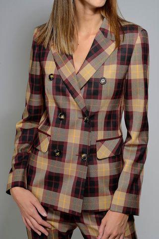 giacca scozzese bordeaux-beige doppiopetto Angelico