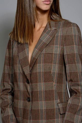 brown wales woman jacket Angelico
