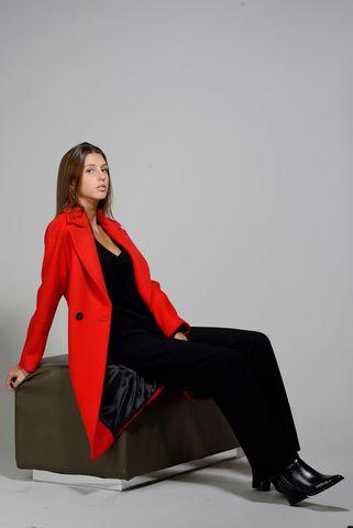cappotto rosso tessuto piacenza Angelico