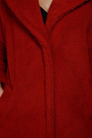 pellicciotto rosso monopetto Angelico