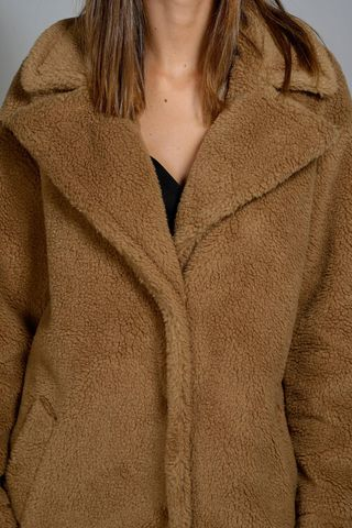 camel teddy bear coat Angelico