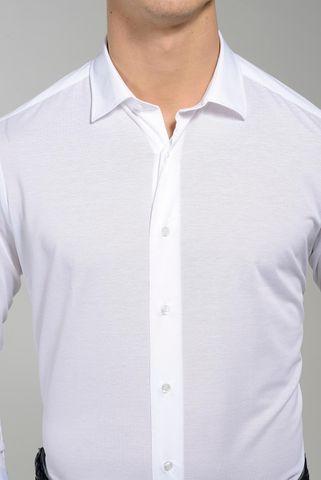polo bianca a camicia pique' oxford Angelico