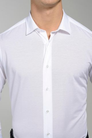polo bianca a camicia pique' oxford Angelico
