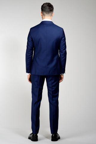 abito blu unito 100s diagonale slim Angelico