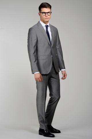 abito grigio medio 100s spacco centrale slim Angelico