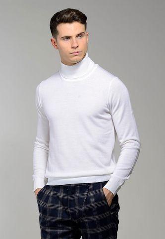 white turtleneck merino pullover Angelico