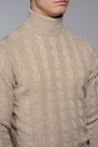 natural turtleneck braids wool-cachemire Angelico