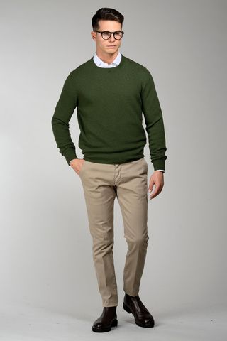 green sweater checkered pattern Angelico