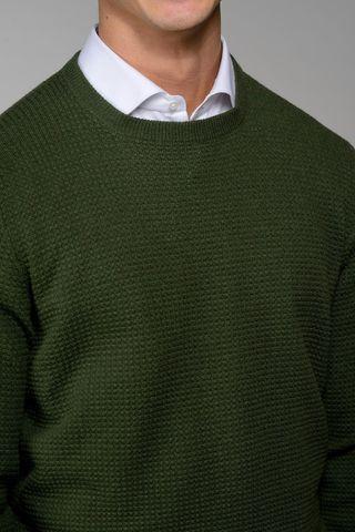 girocollo verde motivo quadretti rilievo Angelico