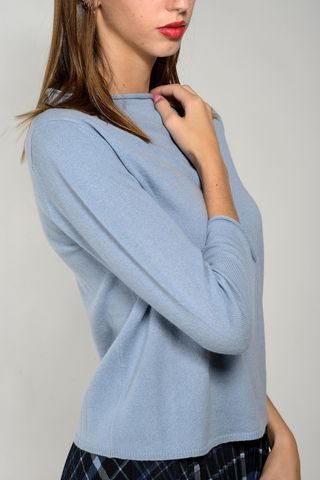 azure sweater wool-cachemire roll neck  Angelico