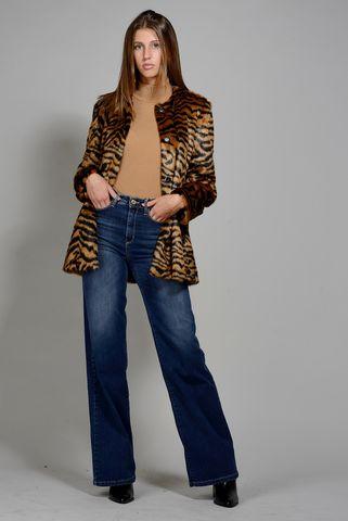 eco-pelliccia tigrata chanel midi emme Angelico
