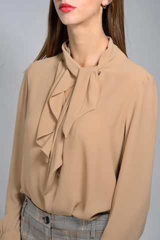 camel shirt neck tie emme Angelico