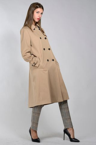 marella double-breasted camel trench coat Angelico