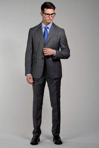 Grey suit Prince of Wales Flli Cerruti Angelico