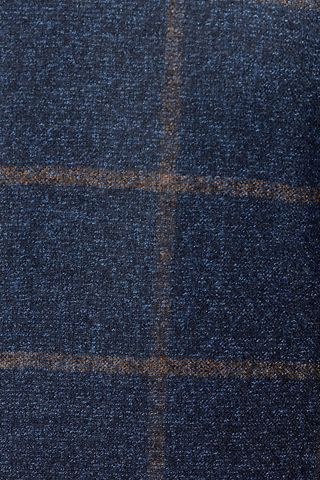 giacca blu finestrata moro lana Angelico