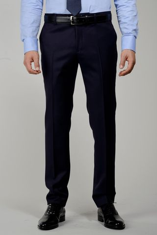 navy wool trousers sallia tasmania Angelico