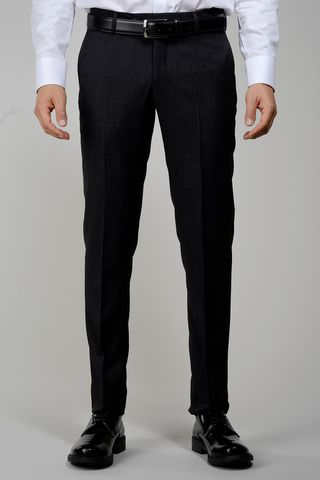 Charcoal wool trousers sallia Tasmania slim Angelico
