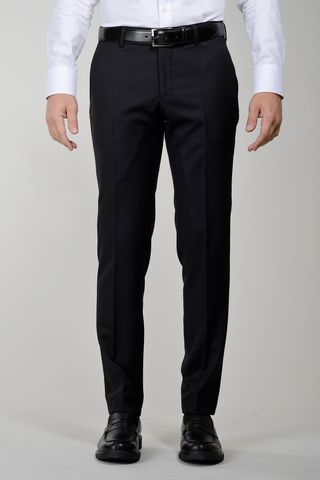 Black wool trousers sallia Tasmania slim Angelico