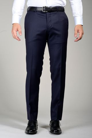 navy wool trousers sallia tasmania slim Angelico