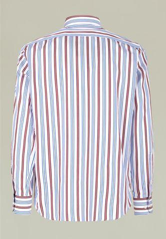 camicia bianca righe prugna-blu Angelico