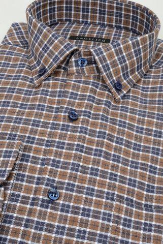 camicia moro-blu quadretto flanellina bd Angelico