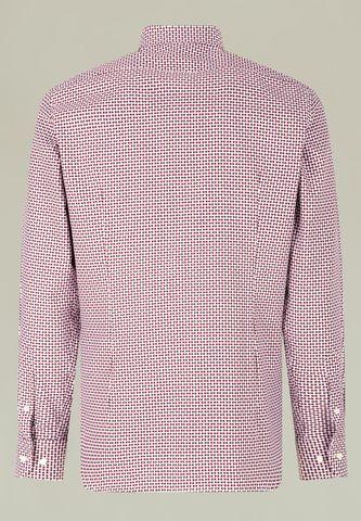 white-plum shirt with greek pattern slim Angelico