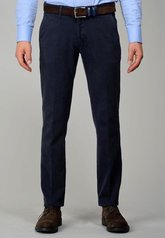 blue trousers honeycomb slim Angelico