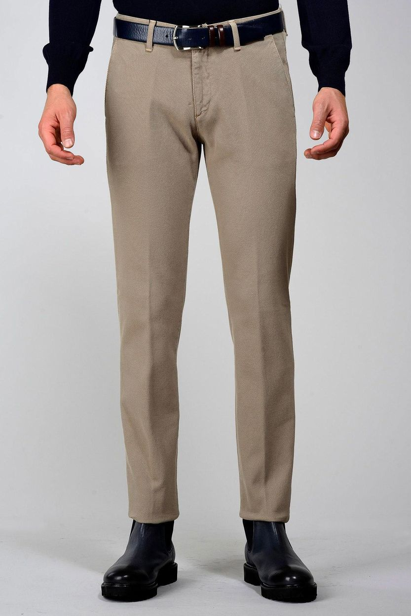 pantalone beige armatura nido ape tc slim Angelico