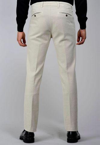 pantalone panna armatura nido ape tc slim Angelico