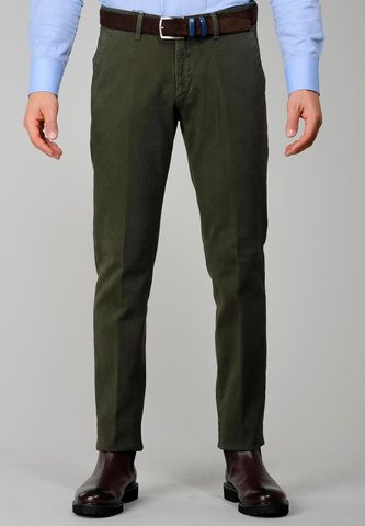 militar green trousers honeycomb slim Angelico
