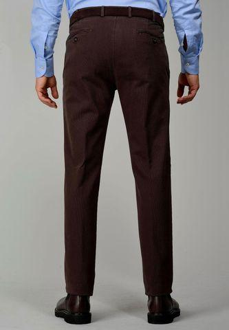 pantalone fango cotone effetto rigato Angelico