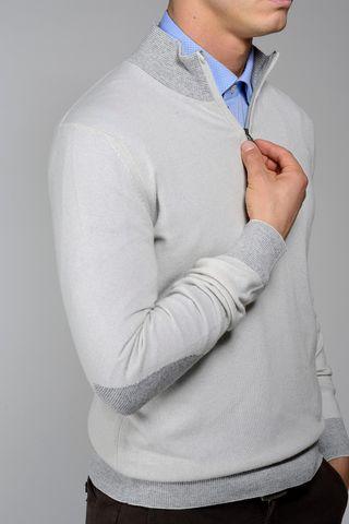 mastic high zip collar neck sweater Angelico