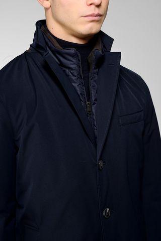 cappotto blu tecnico pettorina Angelico