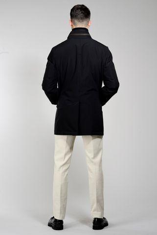 cappotto nero tecnico coreano pettorina Angelico
