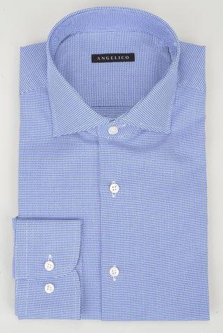 camicia blu armatura intreccio Angelico