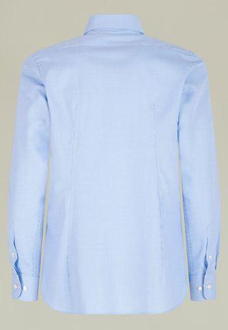 camicia azzurra armatura quadretto slim Angelico