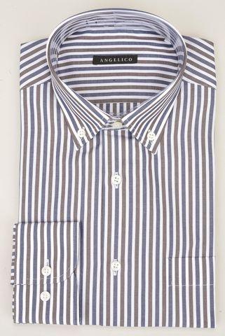 Camicia moro-blu-bianca rigata BD Angelico