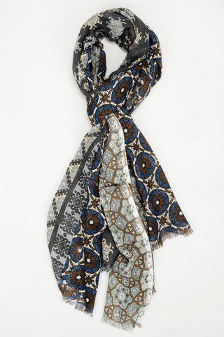 sciarpa moro-blu medaglioni e greche Angelico