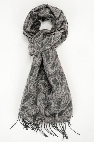 sciarpa grigia lana motivi cashmere Angelico