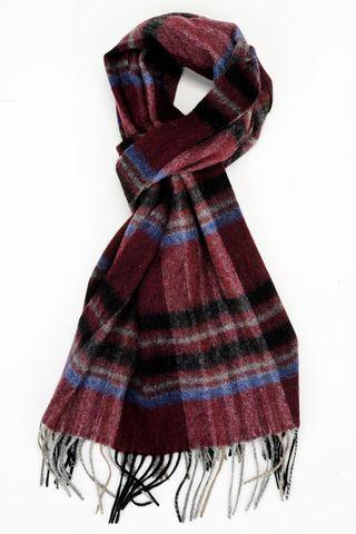 sciarpa prugna-grigia scozzese lana Angelico