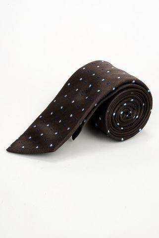 cravatta moro pois azzurri seta Angelico