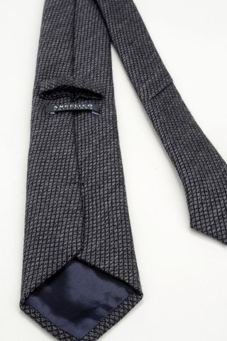grey wool-silk tie micro-check pattern Angelico