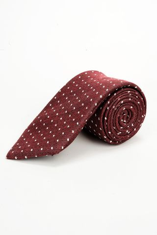 burgundy tie with white checkered  Angelico
