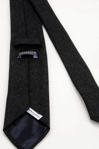 charcoal wool-silk tie Angelico